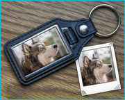 Photo Keychain Leather