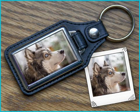 Photo Keychain - Leather