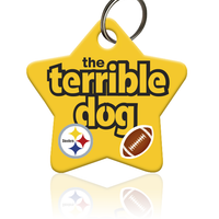 Terrible Dog Pittsburgh Steelers Pet ID Tag