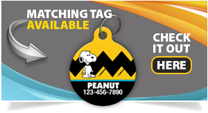 snoopy pet id tag