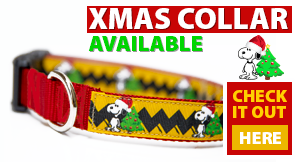 christmas snoopy dog collar