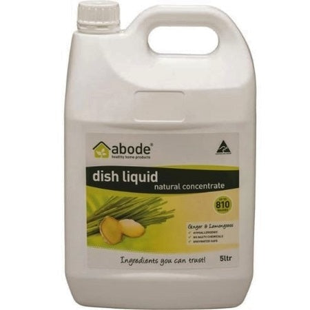 Abode Dishwashing Liquid Ginger & Lemongrass Refill 5L | ABODE