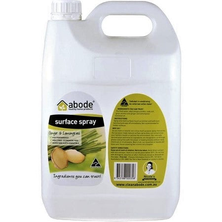 Abode Surface Cleaner Ginger & Lemongrass Refill 5L | ABODE