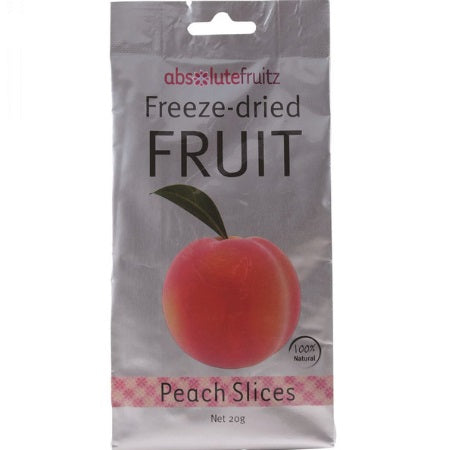 Absolute Fruitz Freeze Dried Peach Slices 20g | ABSOLUTE FRUITZ