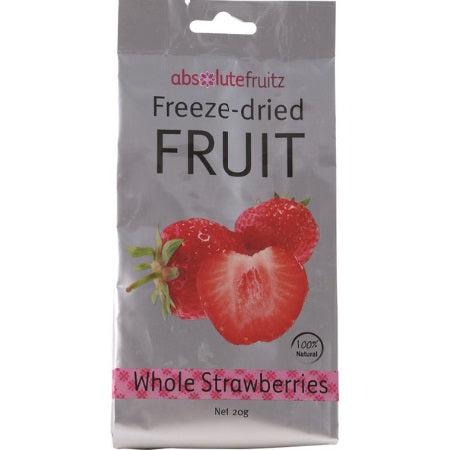 Absolute Fruitz Freeze Dried Strawberry Whole 20g | ABSOLUTE FRUITZ