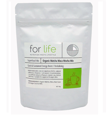 organic matcha maca mocha mix 150g | FOR LIFE