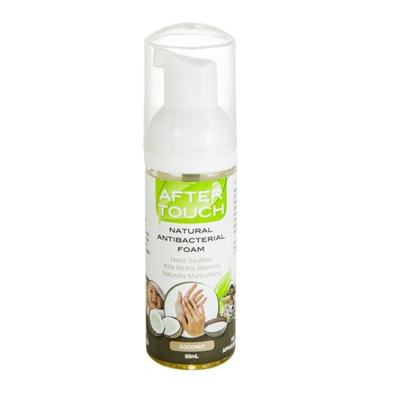 natural hand sanitising foam coconut 50ml (bx12) | AFTER TOUCH