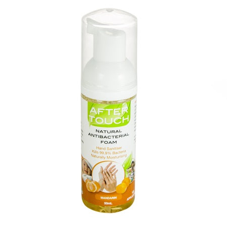 natural hand sanitising foam mandarin 50ml (bx12) | AFTER TOUCH