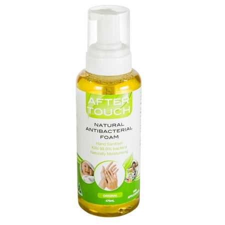 natural hand sanitising foam 475ml | AFTER TOUCH