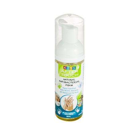 natural hand sanitising foam kids blackcurrant 50ml (bx12) | AFTER TOUCH