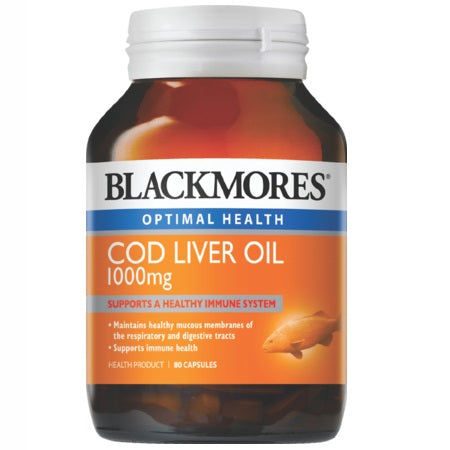 Blackmores Cod Liver Oil 1000Mg 80Caps (00468) Complex | BLACKMORES