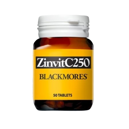 Blackmores Zinvit C 250Mg 50Caps Zinc (Zn) | BLACKMORES