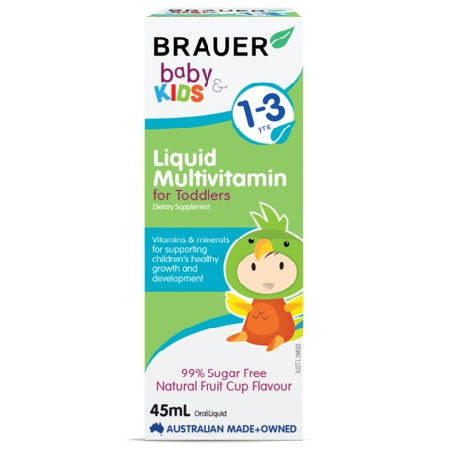 Brauer Natural Baby And Toddler Liquid Multivitamin 45ml | BRAUER NATURAL