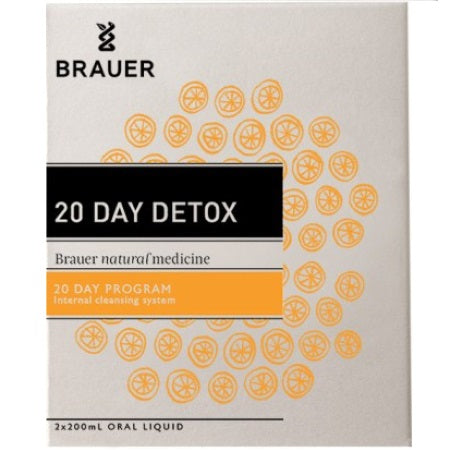 Brauer Natural Elimitona 20 Day Detox Pack  2 X 200ml