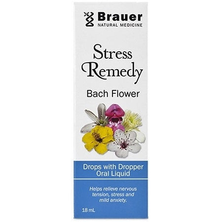 Brauer Natural Bach Flower Stress Remedy Dropper 18ml | BRAUER NATURAL