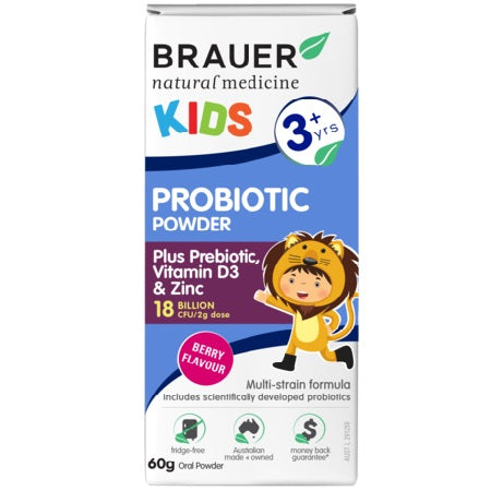 Brauer Natural Baby & Toddler Probiotic Powder 60g | BRAUER NATURAL