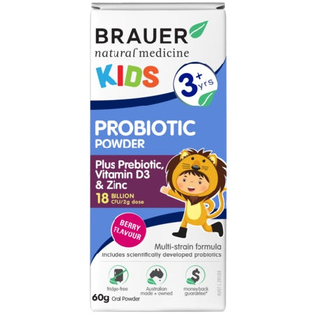Brauer Natural Kids Probiotic Powder 60g | BRAUER NATURAL