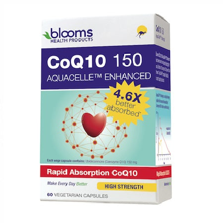 Blooms Coenzyme Q10 150 Aquacelle Advanced 60Vcaps | BLOOMS