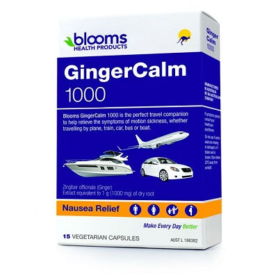 GINGERCALM TPK 1000mg 15Vcaps Ginger (Zingiber officinale) | BLOOMS
