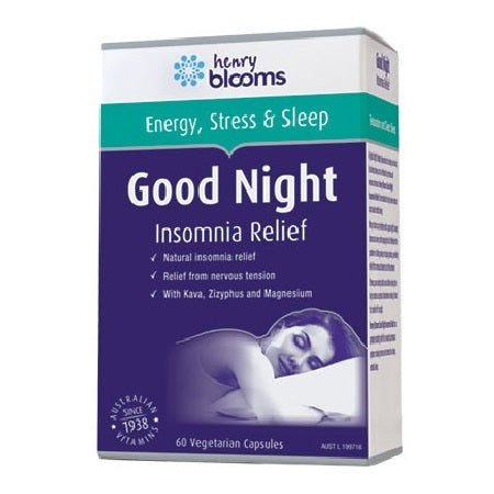 Blooms Good Night Insomnia Relief 60Vcaps | BLOOMS
