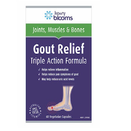 Blooms Gout Relief Triple Action Formula 60Vcaps | BLOOMS