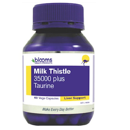 Blooms Milk Thistle 35000 + 50mg Taurine 60Vcaps | BLOOMS