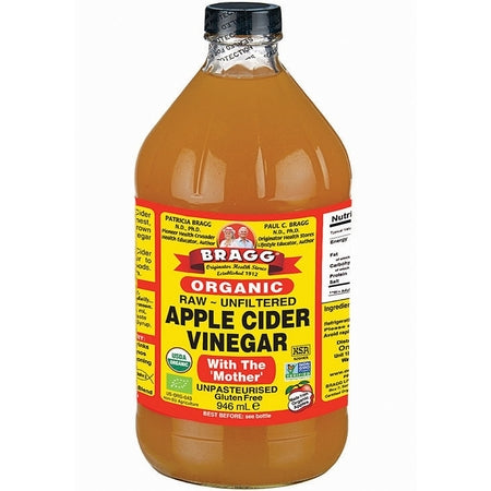 organic apple cider vinegar 946ml (bx12) | BRAGG