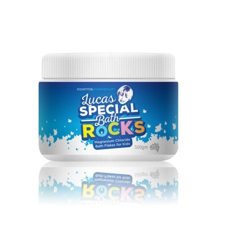 Essential Magnesium Lucas Special Bath Rocks For Kids 500g | ESSENTIAL MAGNESIUM