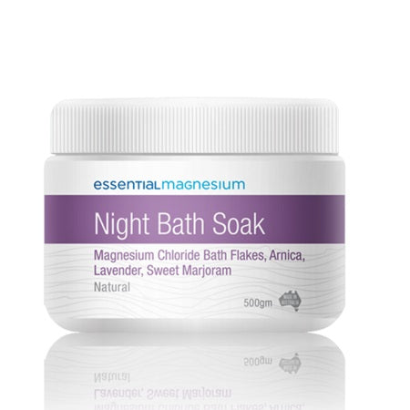 magnesium night bath  soak 500g | ESSENTIAL MAGNESIUM