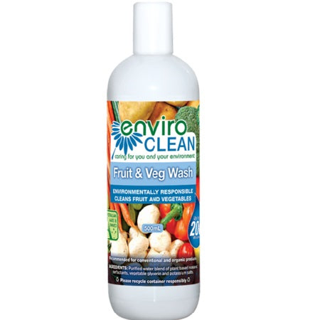 Enviroclean Fruit & Veg Wash 500ml | ENVIROCLEAN