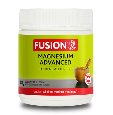 Fusion Health Magnesium Advanced Powder Lemon Lime 330g | FUSION HEALTH