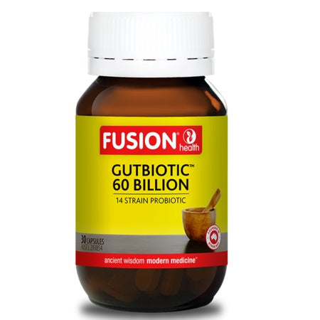 Fusion Health Gutbiotic 60 Billion 30Vcaps | FUSION HEALTH