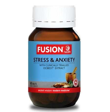 Fusion Health Stress & Anxiety 60Tabs Ocibest | FUSION HEALTH