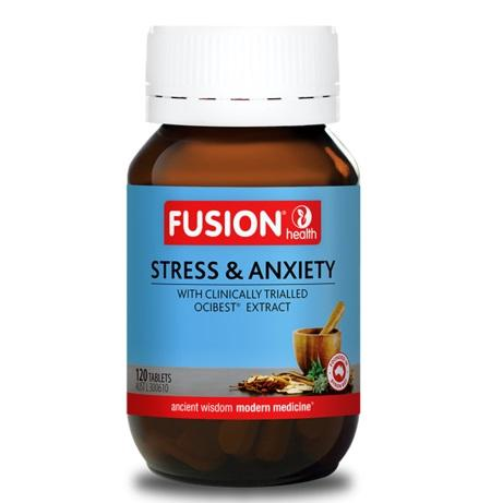 Fusion Health Stress & Anxiety 120Tabs Ocibest | FUSION HEALTH