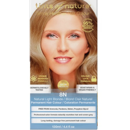 Tints Of Nature Natural Light Blonde Permanent 8N 130ml | TINTS OF NATURE