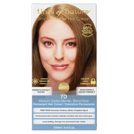 Tints Of Nature Medium Golden Blonde Permanent 7D 130ml | TINTS OF NATURE