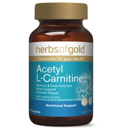 acetyl l-carnitine 60vcaps | HERBS OF GOLD