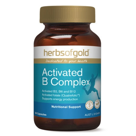 ACTIVATED B COMPLEX 60Caps | HERBS OF GOLD