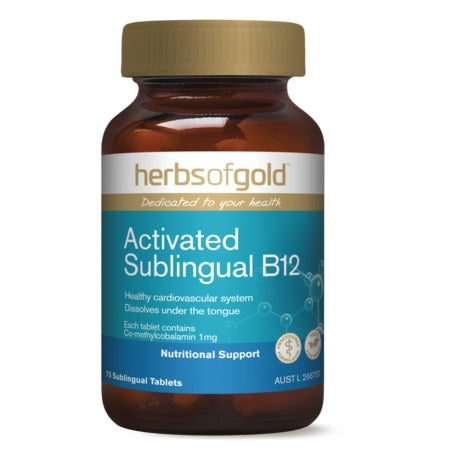 Herbs of Gold Activated Sublingual B12 75tabs Active Vitamin B12 | HERBS OF GOLD
