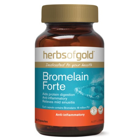 Herbs of Gold Bromelain Forte 60vcaps | HERBS OF GOLD