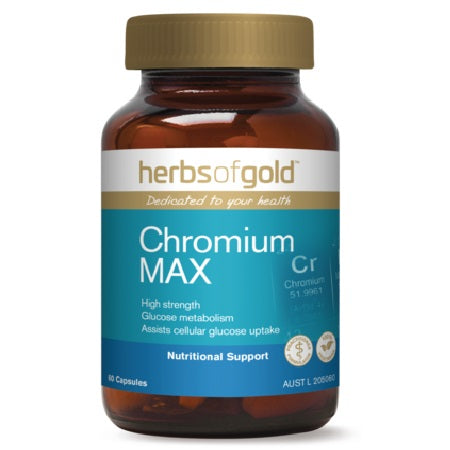 Herbs of Gold Chromium Max 120vcaps Chromium (Cr) | HERBS OF GOLD