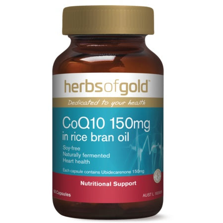Herbs of Gold COQ10 150mg In Rice Bran Oil 120caps | HERBS OF GOLD