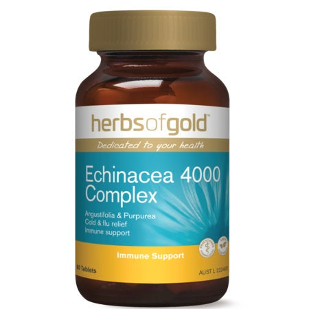 Herbs of Gold Echinacea 4000 Complex 60tabs Echinacea Blend | HERBS OF GOLD