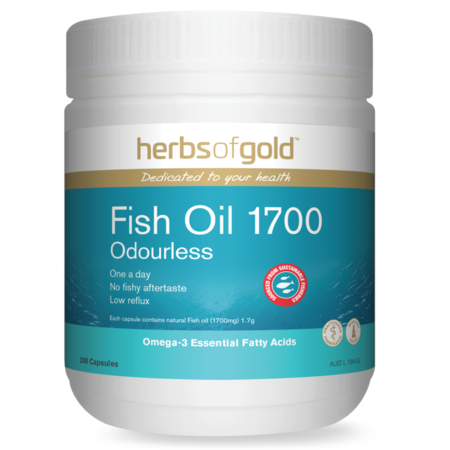 Herbs of Gold Fish Oil 1700 Odourless 200caps Fish Oils | HERBS OF GOLD