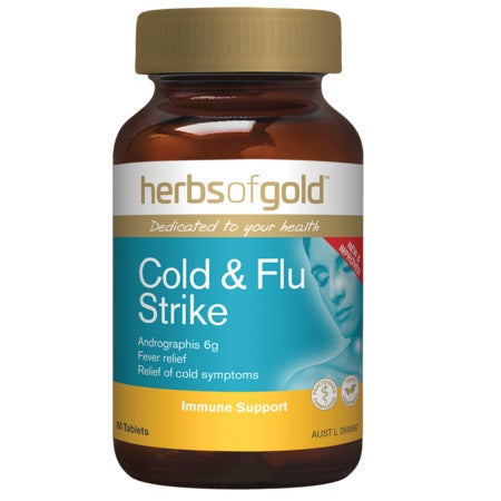 cold & flu strike 30tabs complex | HERBS OF GOLD
