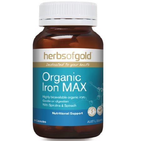 ORGANIC IRON MAX 30Vcaps Iron (Fe) | HERBS OF GOLD