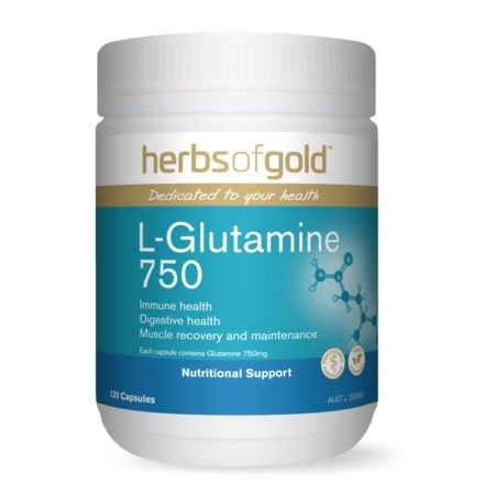 l-glutamine 750 120vcaps | HERBS OF GOLD
