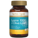 Herbs of Gold Lysine 1000 + Olive Leaf 100tabs Complex | HERBS OF GOLD