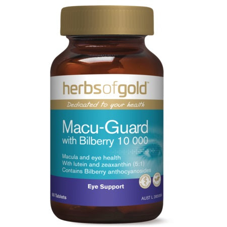 MACU-GUARD WITH BILBERRY 10000 60Vcaps complex | HERBS OF GOLD