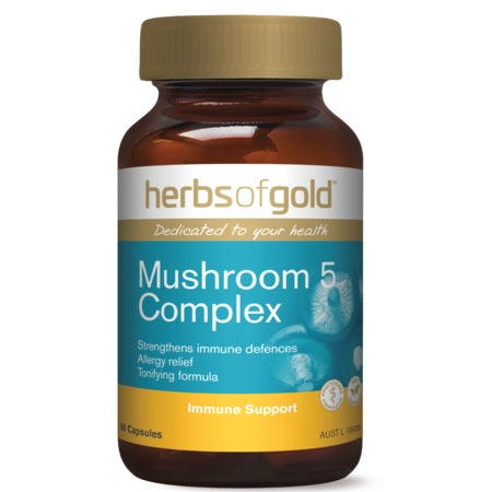 Herbs of Gold Mushroom 5 Complex 60caps Complex | HERBS OF GOLD